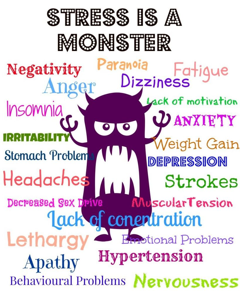 Stress is a monster