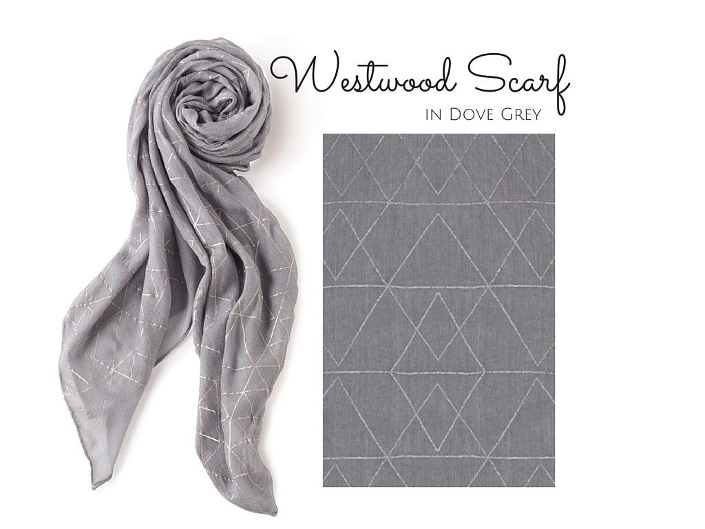 Westwood Scarf in Dove Grey-3