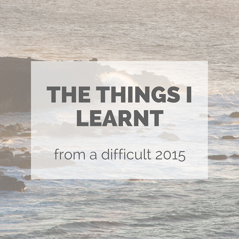 The Things I learnt