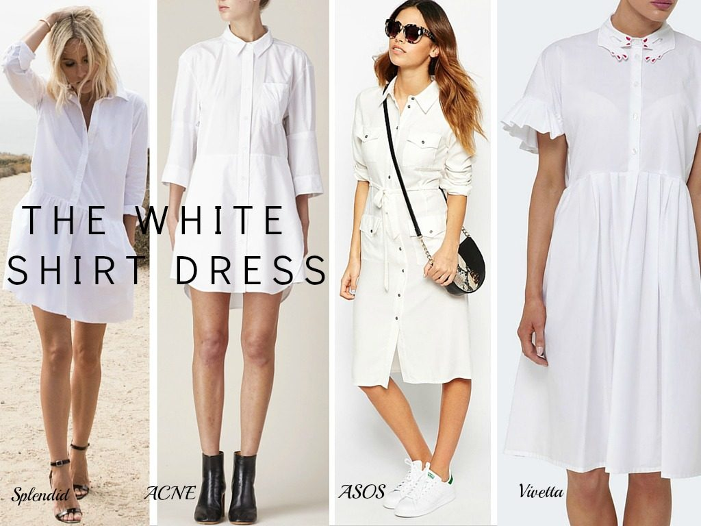 Lyst White Shirt Dress