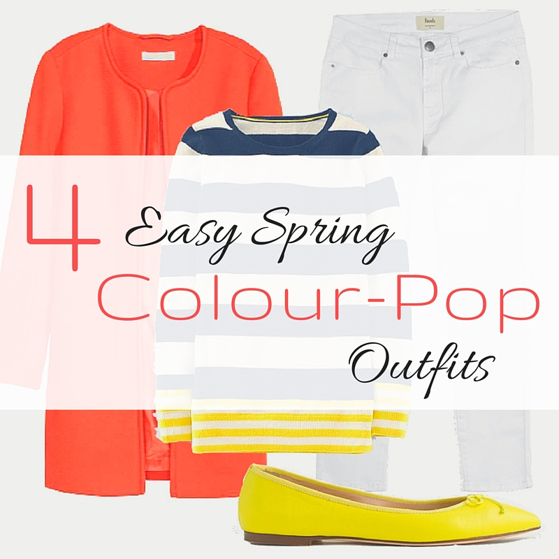 4 Easy Spring colour Pop Outfits