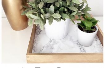An Easy Peasy DIY Marble & Gold Trinket Tray