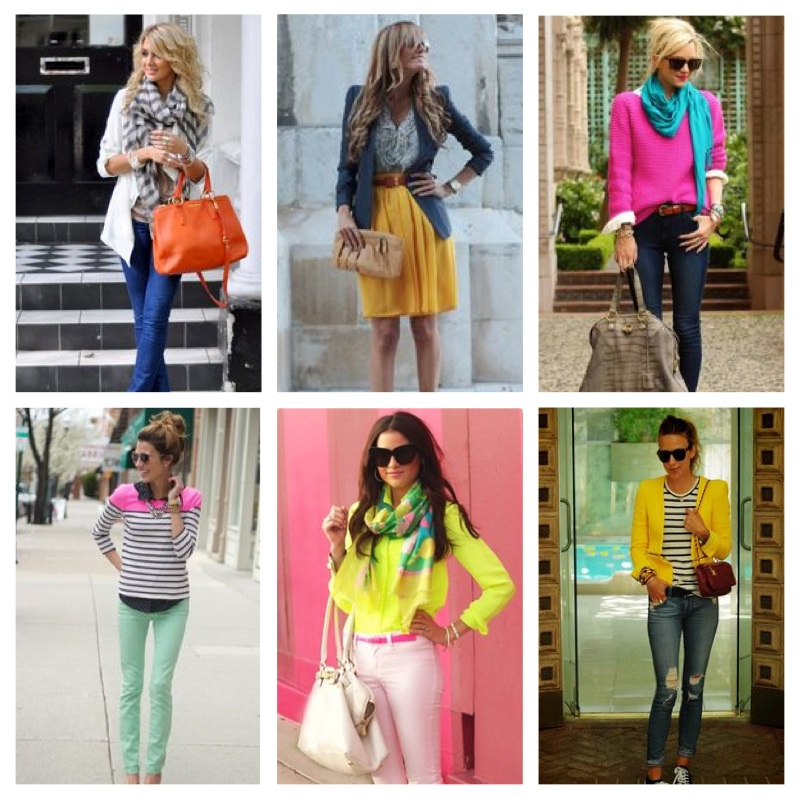 spring colour pop outfits