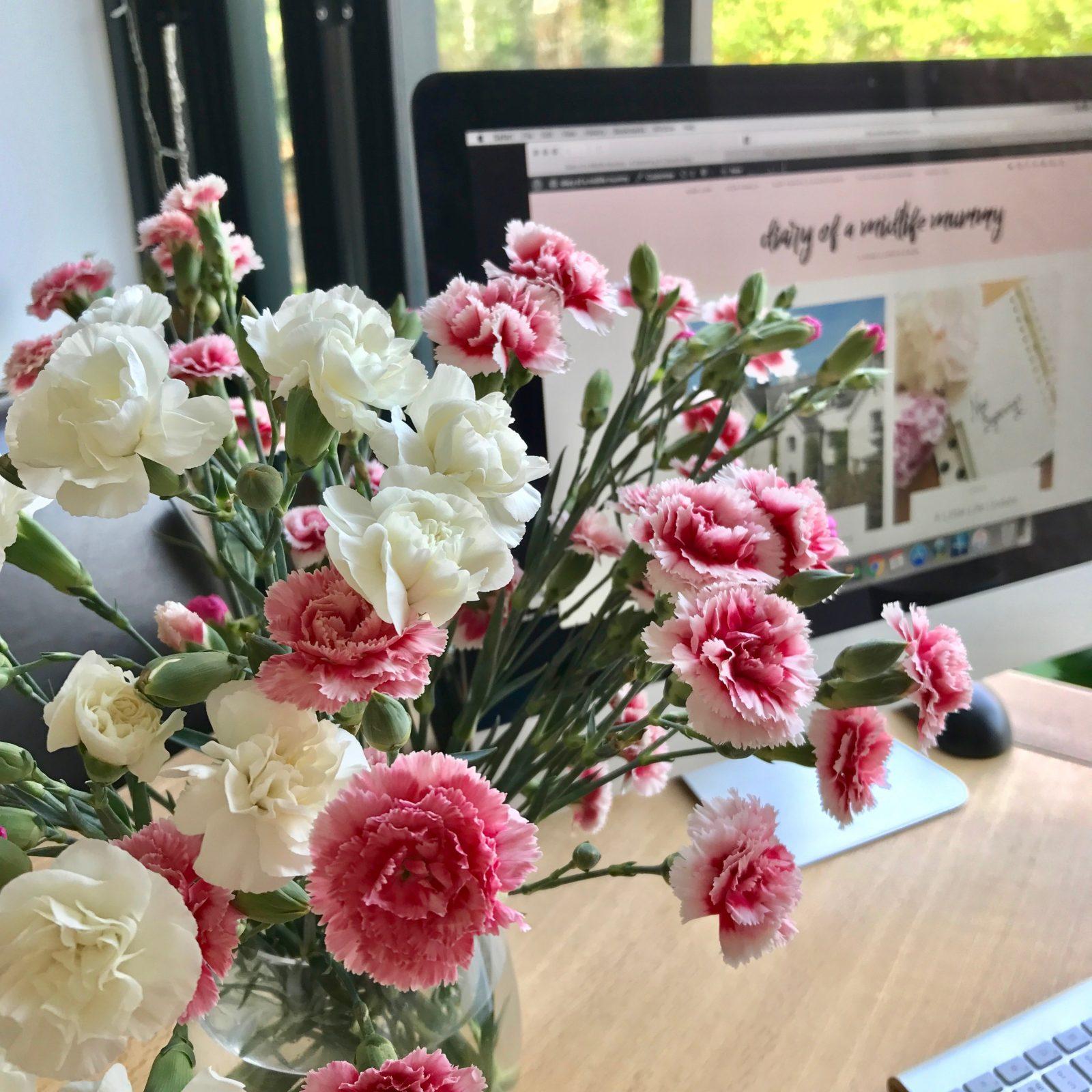 flowers blogging